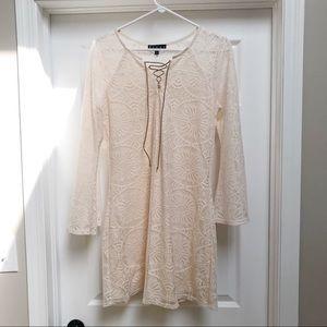 Dresses & Skirts - Ivory lace, bell sleeve, boho dress